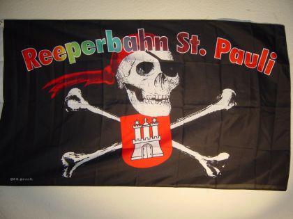 Fahne Flagge ST. PAULI REEPERBAHN 150x90cm