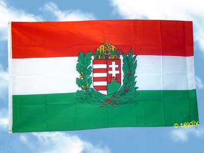 Fahne Flagge UNGARN MIT WAPPEN 150 x 90 cm