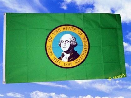 Fahne Flagge Washington 150 X 90 Cm - Vorschau