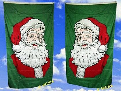 Fahne Flagge WEIHNACHTSMANN 150 x 90 cm