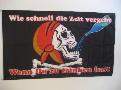 Fahne Flagge WIE SCHNELL DIE ZEIT VERGEHT 150x90cm