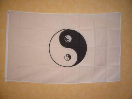 Fahne Flagge YING YANG 150x90cm