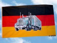 Fahne Flagge DEUTSCHLAND MIT TRUCK 150 x 90 cm