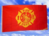 Fahne Flagge FIRE DEPARTEMENT 150 x 90 cm