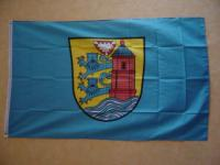 Fahne Flagge FLENSBURG MIT WAPPEN 150 x 90 cm