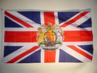 Fahne Flagge GROSSBRITANNIEN MIT WAPPEN 150 x 90