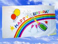 Fahne Flagge HAPPY BIRTHDAY 150 x 90 cm