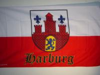 Fahne Flagge HARBURG MIT WAPPEN 150 x 90 cm