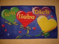 Fahne Flagge ICH LIEBE DICH 150 x 90 cm