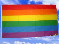 Fahne Flagge REGENBOGEN 150 x 90 cm