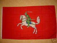 Fahne Flagge RITTER AUF PFERD ROT 150x90