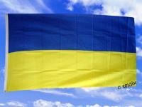 Fahne Flagge UKRAINE OHNE WAPPEN 150 x 90 cm