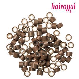 Hairoyal® Silikon-Microrings - 100 Stück - light brown