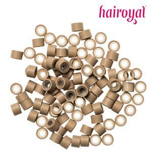 Hairoyal® Silikon-Microrings - 100 Stück - dark blonde