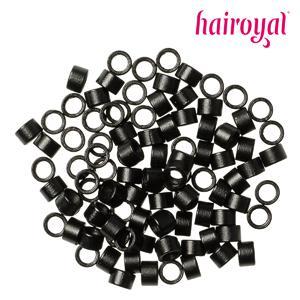 Hairoyal® Microrings mit Gewinde - 100 Stück - black