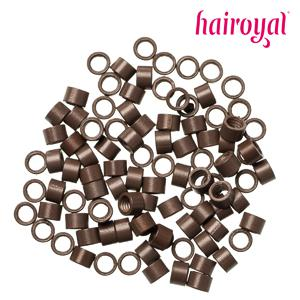 Hairoyal® Microrings mit Gewinde - 100 Stück - medium brown