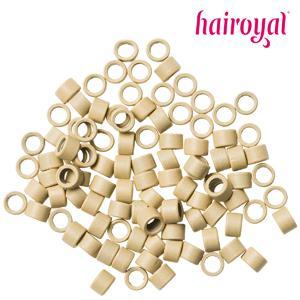 Hairoyal® Microrings mit Gewinde - 100 Stück - blonde