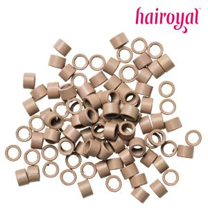 Hairoyal® Microrings mit Gewinde - 100 Stück - light blonde