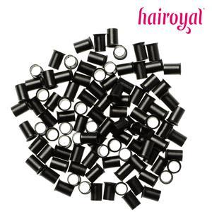 Hairoyal® Eurolocks/Long Microrings - 100 Stück - black