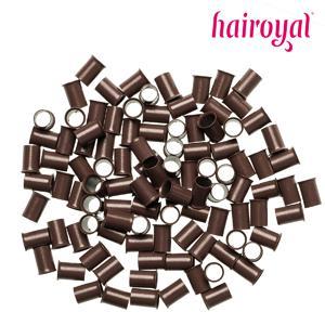 Hairoyal® Eurolocks/Long Microrings - 100 Stück - medium brown