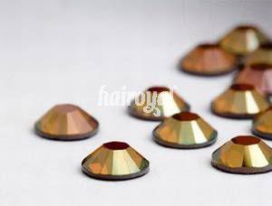 Swarovski® Wimpernkristalle #Crystal Copper
