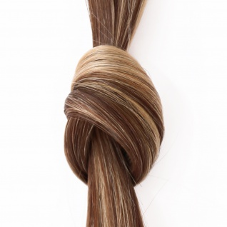 she by SO.CAP. Extensions 50/60 cm glatt #8/26 bicolour- dark blonde/light golden blonde streak