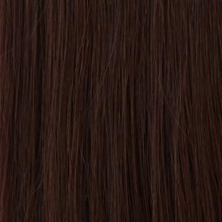 Hairoyal® Extensions glatt #2- Dunkelstes Braun