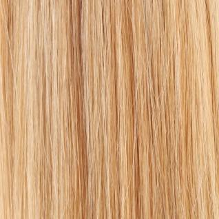 Hairoyal® Microring-Extensions gewellt #140- Natur-Hellblond/Dunkelblond gesträhnt