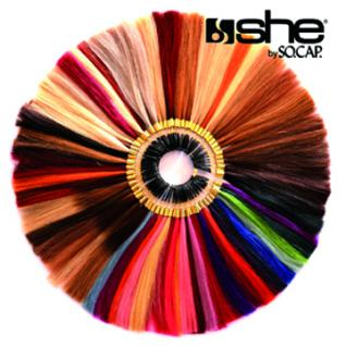NEU!!! she by SO.CAP. Komplett - Echthaar - Farbring mit 86 Farben