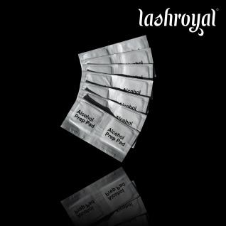 Lashroyal Alkoholpads zur Desinfektion 100 Stück