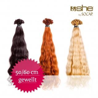 100 Extensions she by SO.CAP. 50/60 cm gewellt + Shampoo & Maschera
