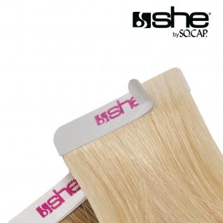 she by SO.CAP. Extensive / Tape Extensions 35/40 cm #4- chestnut - Vorschau 3