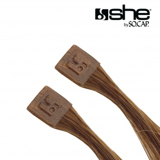 she by SO.CAP. Extensions 50/60 cm gelockt #6- light chestnut - Vorschau 3