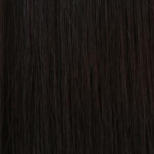Hairoyal® Clip-On-Tressen-Set - glatt #1b- Schwarz