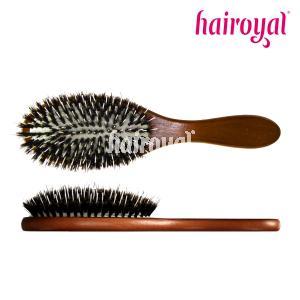 Hairoyal® Extensionbürste mit Holzgriff und 100 % Wildschweinborsten