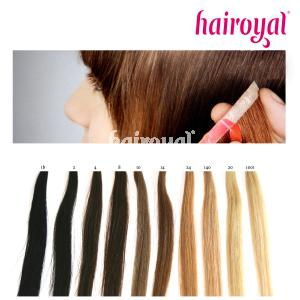 Hairoyal® Skinny's - 4 feine Tressen inkl. Tapestrips in NATURAL COLOURS - Vorschau