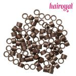 Microrings mit Gewinde - 100 Stück - medium brown