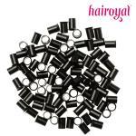 Eurolocks/Long Microrings - 100 Stück - black