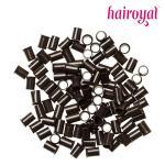 Eurolocks/Long Microrings - 100 Stück - dark brown