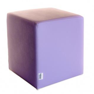 Sitzwürfel flieder Maße: 43 cm x 43 cm x 48 cm