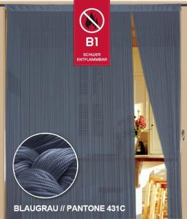 Fadenvorhang 090 cm x 240 cm (BxH) blaugrau in B1 schwer entflammbar