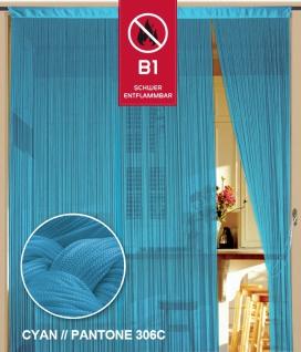 Fadenvorhang 090 cm x 240 cm (BxH) hellblau in B1 schwer entflammbar