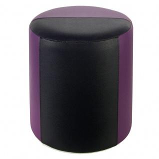 Sitzhocker 2-farbig lila-schwarz Ø34 x 44cm