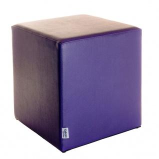 Sitzwürfel Lila Maße: 43 cm x 43 cm x 48 cm