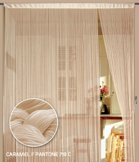 Fadenvorhang 150 cm x 300 cm (BxH) caramel