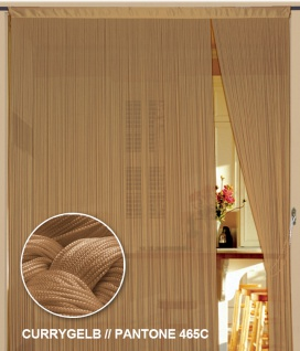 Fadenvorhang 90 cm x 240 cm (BxH) currygelb gold