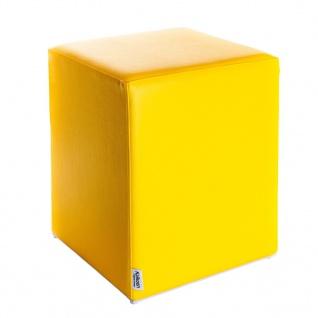 Sitzwürfel Gelb Maße: 35 cm x 35 cm x 42 cm