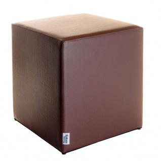 Sitzwürfel Braun Maße: 43 cm x 43 cm x 48 cm