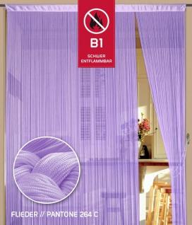 Fadenvorhang 090 cm x 240 cm (BxH) flieder in B1 schwer entflammbar
