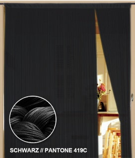 Fadenvorhang 200 cm x 300 cm (BxH) schwarz